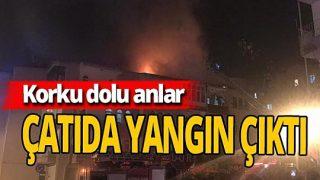 Niğde'de çatıda korkutan yangın