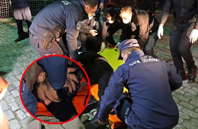 25 metrelik falezden düşen şahsı deniz polisi kurtardı