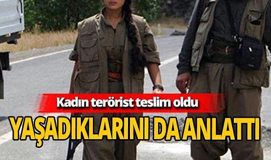 14 yaşında örgüte katılmıştı, kadın terörist teslim oldu