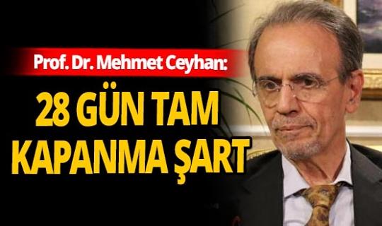 Prof. Dr. Mehmet Ceyhan, artan vakalar sonrası uyardı