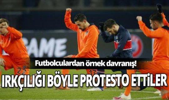 PSG'li ve Başakşehirli futbolculardan örnek davranış! Irkçılığı böyle protesto ettiler