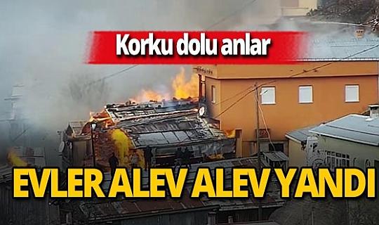 Rize'de yangın! 7 ev kullanılmaz hale geldi