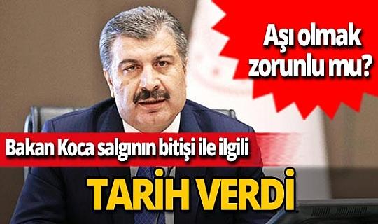 Sağlık Bakanı Fahrettin Koca açıkladı! Kaç kişi aşı olacak? Koronavirüs aşısı olmak zorunlu mu?