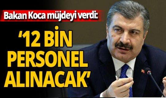 Sağlık Bakanı Fahrettin Koca müjdeyi verdi! Binlerce personel alınacak