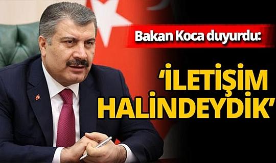 Sağlık Bakanı Fahrettin Koca Prof. Dr. Uğur Şahin ile görüştüğünü duyurdu