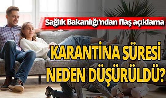 Sağlık Bakanlığı'ndan 'Karantina Süresi'ne ilişkin yeni açıklama!