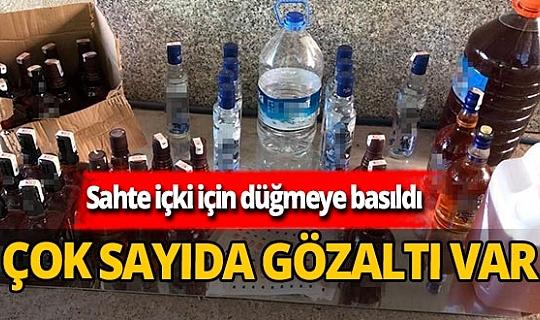 Sahte içki operasyonu: 14 gözaltı