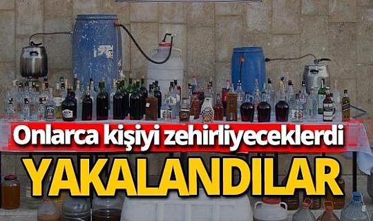 Sahte içki üreticisi 2 kişi yakalandı