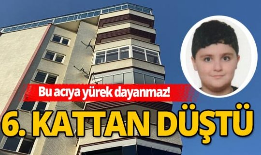 Samsun'da korkunç olay! 6. kattan düştü