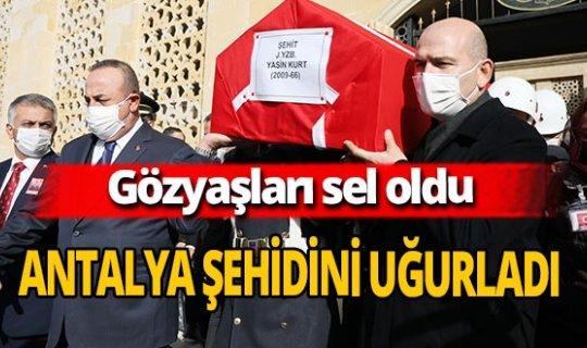 Şehit Jandarma Yüzbaşı Yasin Kurt Antalya'da son yolculuğuna uğurlandı