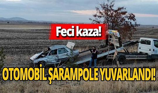 Seydihisar'da otomobil şarampole yuvarlandı! Sürücü Osman Meşeli hayatını kaybetti Cevdet Meşeli yaralandı