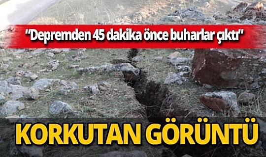 Siirt depreminin ardından oluşan derin yarıklar korkuttu