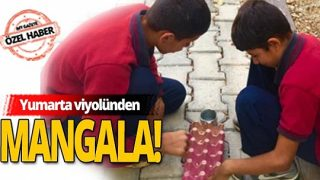 Siirtli öğrenciler yumurta viyolünden mangala yaptı