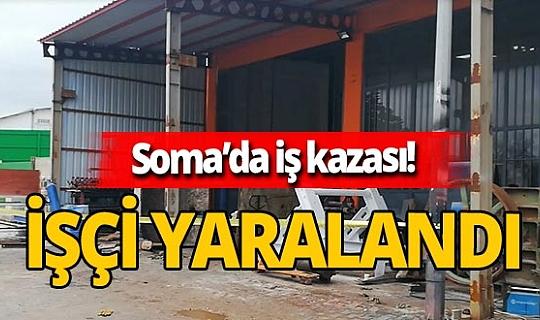 Soma'da sanayide varil patladı bir işçi yaralandı