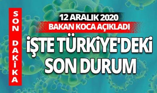 SON DAKİKA! 12 Aralık 2020 Cumartesi koronavirüs tablosu