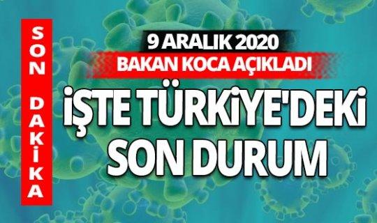 SON DAKİKA! 9 Aralık 2020 koronavirüs tablosu açıklandı
