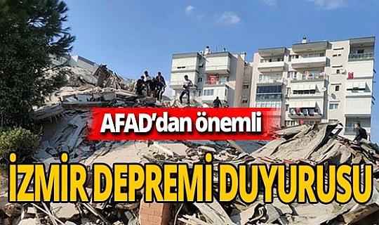 Son dakika! AFAD'dan  İzmir Seferihisar depremi duyurusu