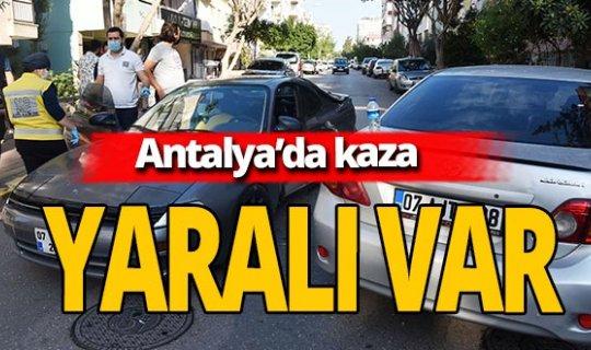 Son dakika... Antalya'daki kontrolsüz kavşakta kaza