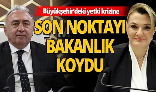Son dakika... Antalya Büyükşehir Belediyesi'nde devam eden vekillik krizine son noktayı bakanlık koydu