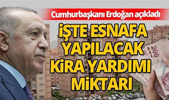 Son dakika! Cumhurbaşkan'ı Recep Tayyip Erdoğan'dan kira yardımı açıklaması