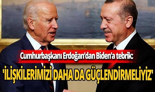 SON DAKİKA! Cumhurbaşkanı Recep Tayyip Erdoğan'dan Biden'a tebrik