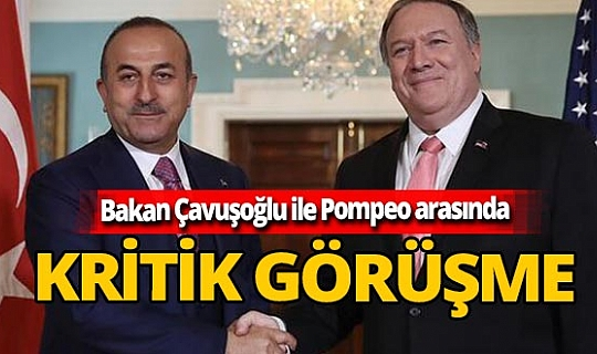 Son dakika! Dışişleri Bakanı Mevlüt Çavuşoğlu, Pompeo ile görüştü