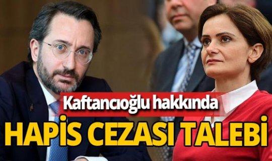 Son dakika! İletişim Başkanı Fahrettin Altun'un evinin fotoğraflanmasıyla ilgili Canan Kaftancıoğlu'na hapis istemi