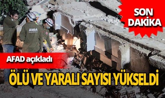 Son dakika... İzmir'deki depremde ölü sayısı 24'e yükseldi