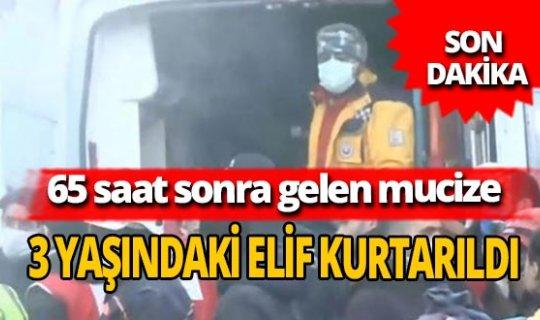 Son dakika... İzmir'deki depremden 3 yaşındaki Elif Perinçek sağ olarak kurtuldu