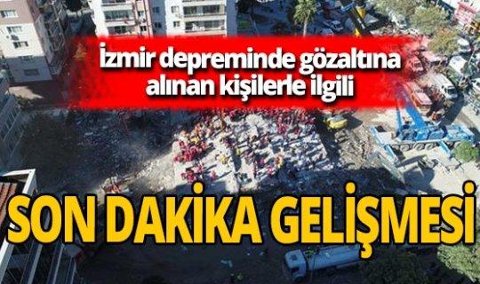 Son dakika! İzmir depreminde yıkılan binalarla ilgili gözaltına alınanlar adliyede!