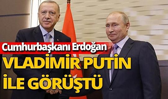 Son dakika! Recep Tayyip Erdoğan, Vladimir Putin ile görüştü