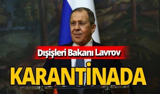 Son dakika! Rusya Dışişleri Bakanı Sergey Lavrov karantinada!