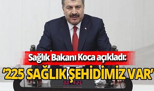 Son dakika! Sağlık Bakanı Fahrettin Koca açıkladı: '225 sağlık şehidimiz var'