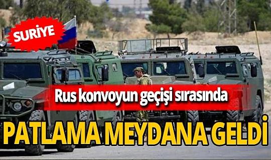 Son dakika! Suriye'de Rus konvoyun geçişi sırasında patlama