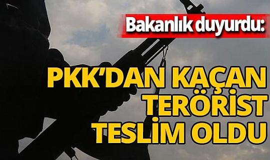 Son dakika! Terör örgütünde çözülme devam ediyor! Bakanlık duyurdu: 1 terörist daha teslim oldu