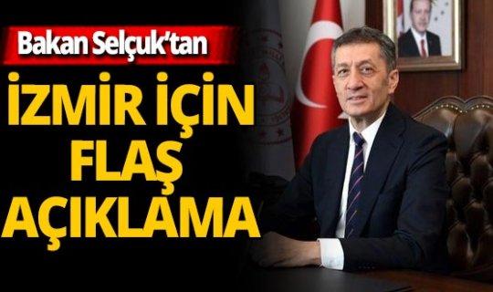 Son dakika!  Ziya Selçuk'tan İzmir için 'uzaktan eğitim' açıklaması