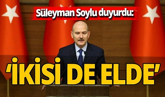 Süleyman Soylu İskenderun'daki patlamayla ilgili açıklamada bulundu: 'İkisi de elde'