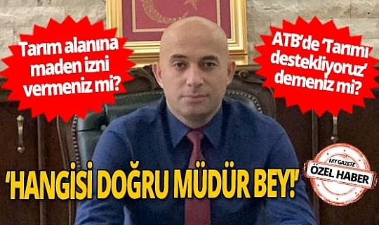 Tarım İl Müdürü Gökhan Karaca'nın açıklamalarına Dereköylüler'den tepki