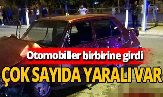 Tarsus'ta otomobiller birbirine girdi: 1'i ağır  yaralı