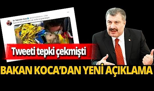 Tartışma yaratan paylaşıma Bakan Fahrettin Koca'dan yeni açıklama