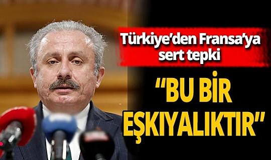 """TBMM Başkanı Mustafa Şentop: """"Bu devlet eli ile yapılan bir eşkıyalıktır"""""""