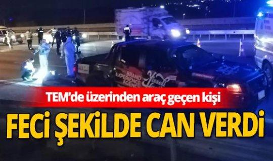 TEM otoyolunda feci kaza! Üzerinden geçen otomobil sayısını kameralar belirleyecek...