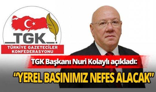 TGK Başkanı Nuri Kolaylı,
