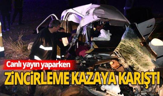 Tokat'ta zincirleme kaza! Kaza anı anbean görüntülendi