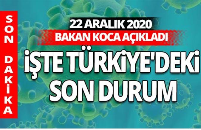SON DAKİKA! 22 Aralık 2020 koronavirüs tablosu