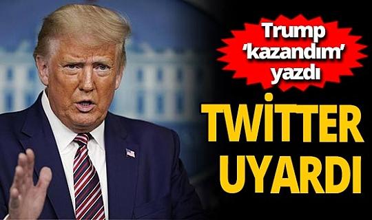Trump'ın 'kazandım' tweetine uyarı etiketi
