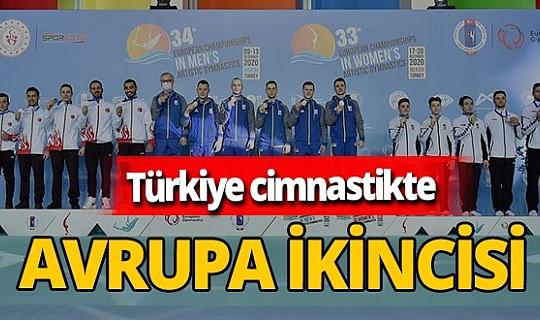 Türkiye, Avrupa Erkekler Artistik Cimnastik Şampiyonası'nda ikinci oldu