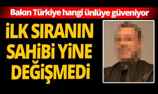 'Türkiye'nin en güvenilir ünlüleri' araştırmasının sonucu açıklandı!