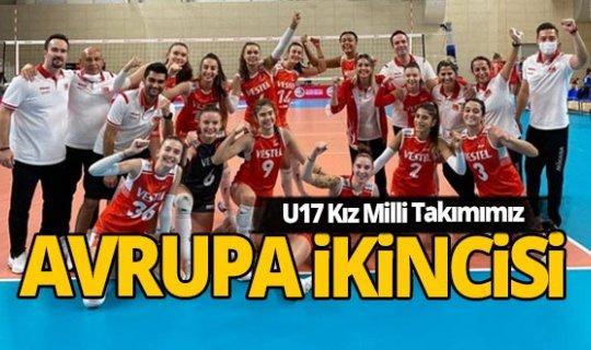 U17 Kız Milli Takımımız, Avrupa ikincisi oldu