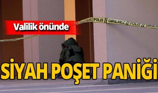 Valilik önünde panik dolu anlar: Şüpheli poşet patlatıldı